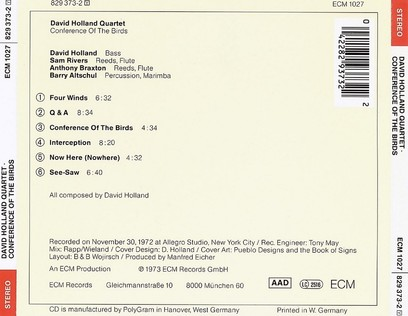 CD ECM Records Dave Holland: Conference Of The Birds