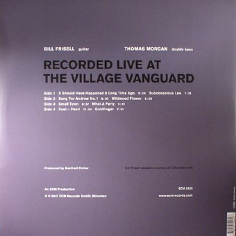 VINIL ECM Records Bill Frisell / Thomas Morgan: Small Town
