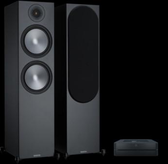 Pachet PROMO Monitor Audio Bronze 500 + Bluesound Powernode 2i v2
