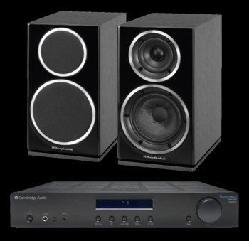 Wharfedale Diamond 220 + Cambridge Audio Topaz AM10