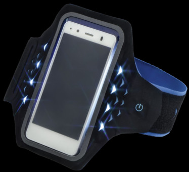 Hama Active Sports Arm Band Smartphone cu LED-uri XL