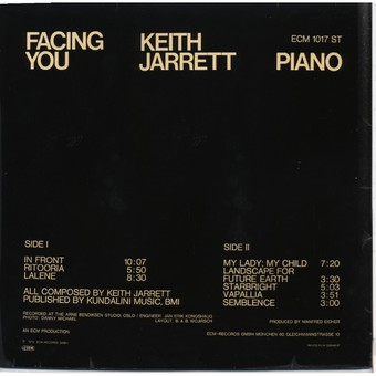 VINIL ECM Records Keith Jarrett: Facing You