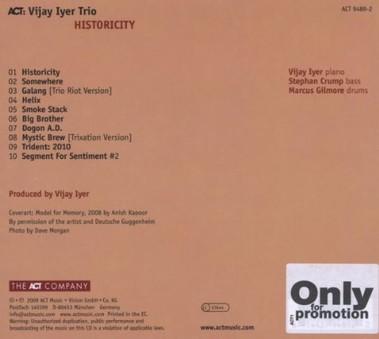 VINIL ACT Vijay Iyer: Historicity