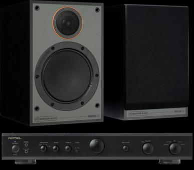 Pachet PROMO Monitor Audio Monitor 100 Black Cone + Rotel A-10