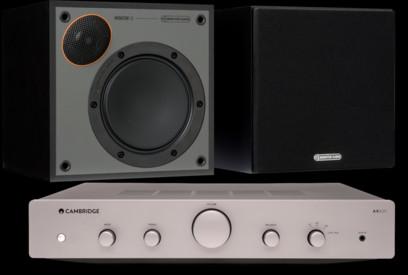 Pachet PROMO Monitor Audio Monitor 50 Black Cone + Cambridge Audio AXA25