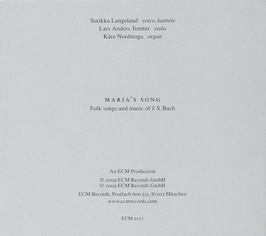 CD ECM Records Sinikka Langeland: Maria's Song