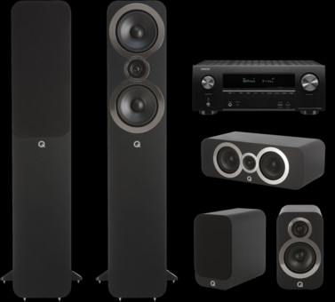 Pachet PROMO Q Acoustics 3050i pachet 5.0 + Denon AVR-X2600H