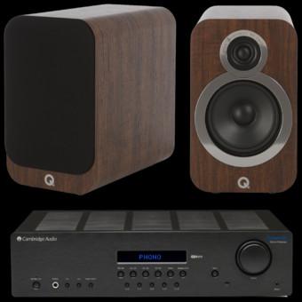 Pachet PROMO Q Acoustics 3020i + Cambridge Audio Topaz SR20
