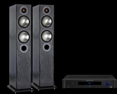 Pachet PROMO Monitor Audio Bronze 5 + Emotiva BasX TA-100