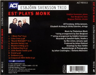 CD ACT Esbjorn Svensson Trio: Plays Monk