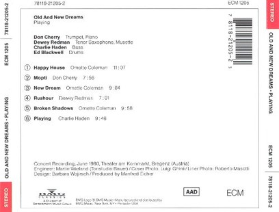 CD ECM Records Old And New Dreams: Playing