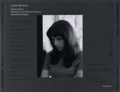CD ECM Records Judith Berkson: Oylam