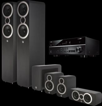 Pachet PROMO Q Acoustics 3050i pachet 5.1 + Yamaha RX-V485