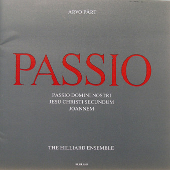CD ECM Records Arvo Part: Passio