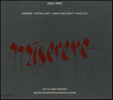 VINIL ECM Records Arvo Part: Miserere