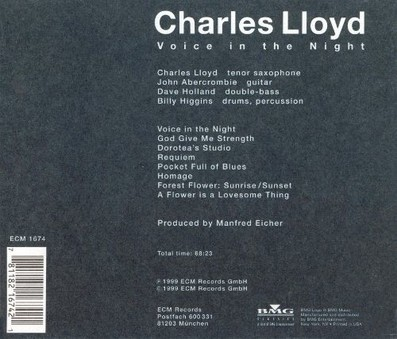 VINIL ECM Records Charles Lloyd: Voice In The Night