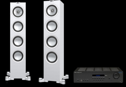 Pachet PROMO KEF Q550 + Cambridge Audio Topaz SR20