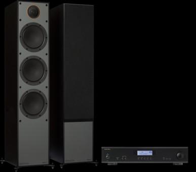 Pachet PROMO Monitor Audio Monitor 300 Black Cone + Rotel A-11