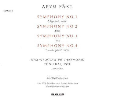 CD ECM Records Arvo Part: The Symphonies