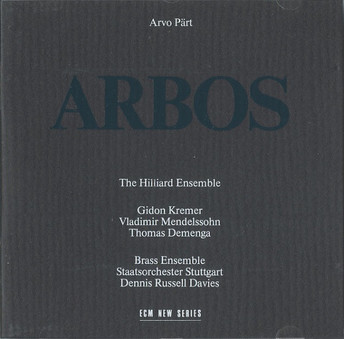 CD ECM Records Arvo Part: Arbos