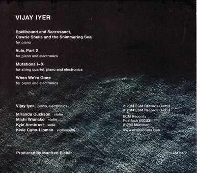 CD ECM Records Vijay Iyer: Mutations
