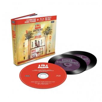 CD Decca Verdi - Aida ( Solti - Price, Vickers ) CD + BluRay Audio