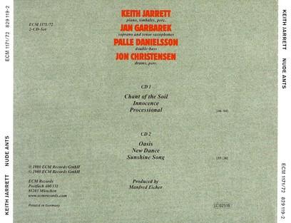 CD ECM Records Keith Jarrett: Nude Ants