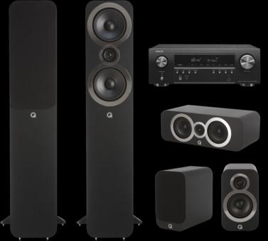 Pachet PROMO Q Acoustics 3050i pachet 5.0 + Denon AVR-S650H