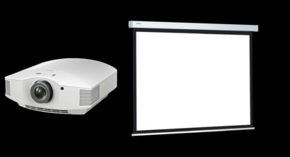 Videoproiector Sony VPL-HW65ES + Projecta COMPACT RF ELECTROL Matte White  162x280cm
