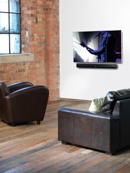Soundbar Q Acoustics M4 Hi-Fi, Subwoofer integrat, Bluetooth si NFC, 100 W