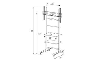 Stand TV mobil de podea  Sonorous - PR 1000, inaltime 182cm