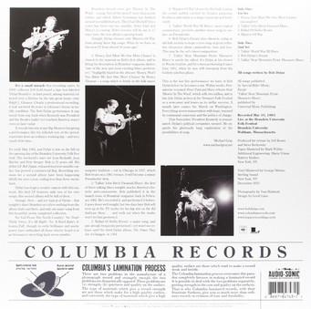 VINIL Universal Records Bob Dylan - Brandeis University 1963