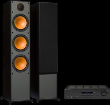 Pachet PROMO Monitor Audio Monitor 300 + Cambridge Audio Topaz SR20