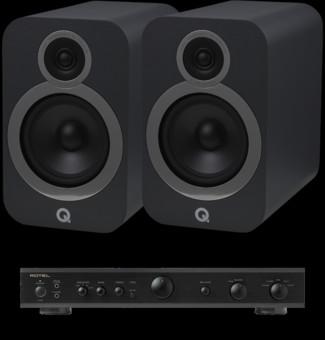 Pachet PROMO Q Acoustics 3030i + Rotel A-10