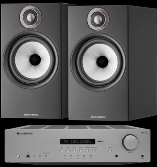 Pachet PROMO Bowers & Wilkins 606 S2 Anniversary Edition + Cambridge Audio AXR100