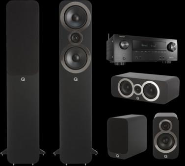 Pachet PROMO Q Acoustics 3050i pachet 5.0 + Denon AVR-X2500H