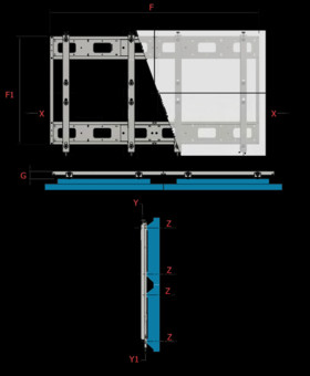 Suport TV OMB Quick Video Wall 2x2 Landscape