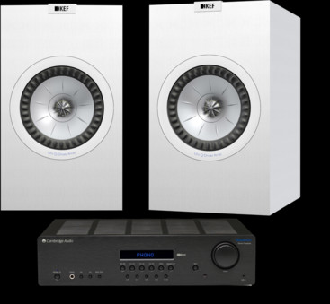 Pachet PROMO KEF Q350 + Cambridge Audio Topaz SR20
