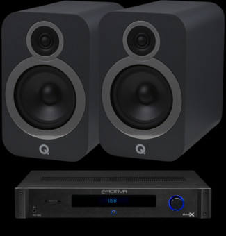 Pachet PROMO Q Acoustics 3030i + Emotiva BasX TA-100