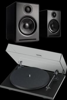 Pachet PROMO Audioengine A2+ Wireless + Pro-Ject Primary Phono USB OM5E