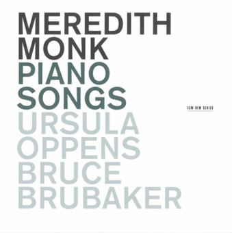 CD ECM Records Meredith Monk: Piano Songs