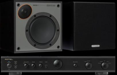 Pachet PROMO Monitor Audio Monitor 50 Black Cone + Rotel A-10