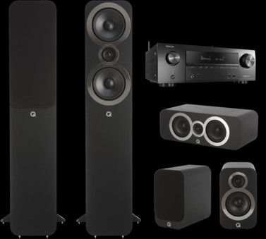 Pachet PROMO Q Acoustics 3050i pachet 5.0 + Denon AVR-X1500H