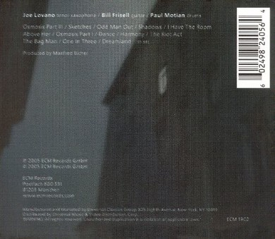 CD ECM Records Paul Motian, Bill Frisell, Joe Lovano: I Have The Room Above Her