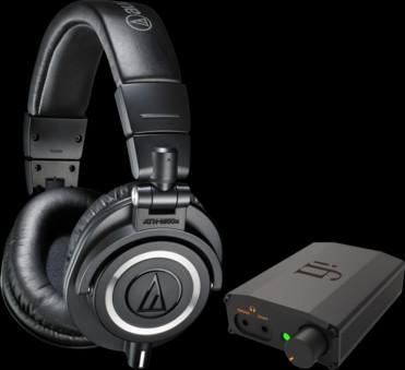 Pachet PROMO Audio-Technica ATH-M50x + iFi Nano iDSD Black
