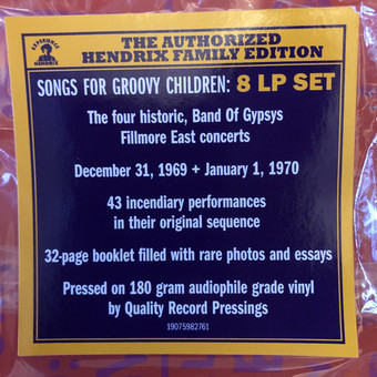 VINIL Universal Records Jimi Hendrix - Songs For Groovy Children: The Fillmore East Concerts
