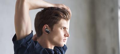 Imagine cu Căști wireless sport cu anulare digitală a zgomotului