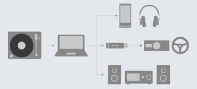 Imagine cu Pick-up cu capacitate de extragere a sunetului de înaltă rezoluţie