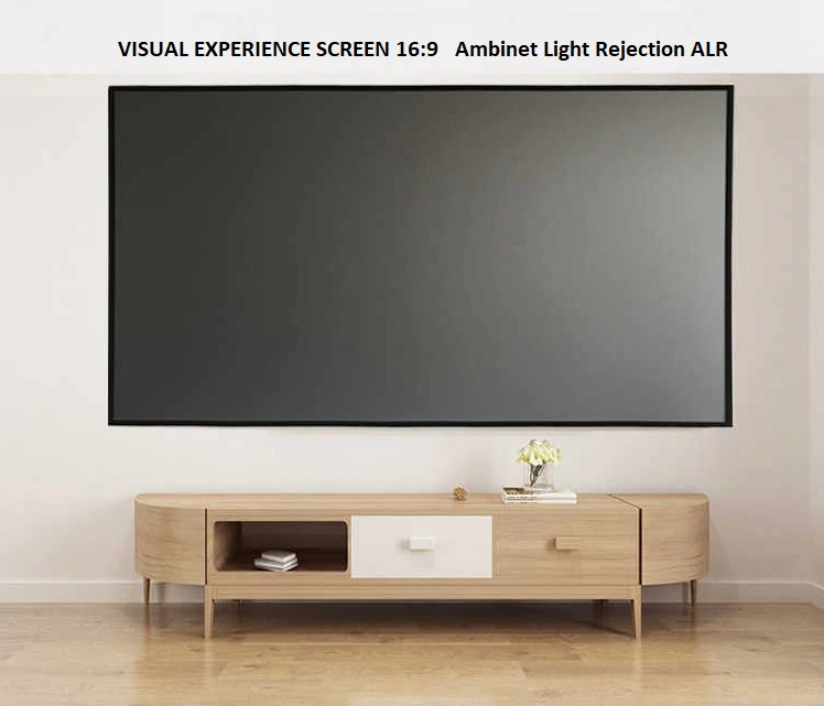 Visual-Experience-screen-Long-Throw-ambient-light-rejection-ALR-Fix-Frame