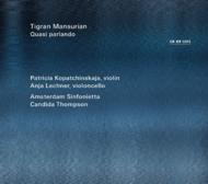 Muzica CD CD ECM Records Tigran Mansurian: Quasi parlandoCD ECM Records Tigran Mansurian: Quasi parlando